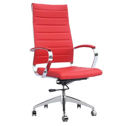 "Fine Mod Imports FMI10078RED 25"" Adjustable Contemporary Office Chair"