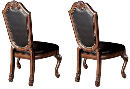 Acme Furniture 10038 Chateau De Ville Series Traditional Bycast Leather Wood Frame Dining Room Chair