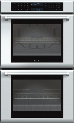 "Thermador ME302J 30"" Masterpiece Series Double Electric Wall Oven With 9.4 Cu. Ft. Total Capacity, Self-Cleaning, SoftClose Door, And Halogen Lighting: Stainless Steel"