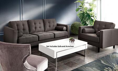 Diamond Sofa NEPTUNESCHGR Neptune Living Room Sets