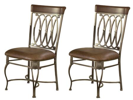 Hillsdale Furniture 41543 Montello Series Contemporary Faux Leather Metal Frame Dining Room Chair