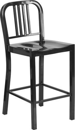 Flash Furniture CH3120024BKGG Residential Not Upholstered Bar Stool