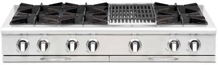 "Capital CGRT484B2N 48"" Culinarian Series Natural Gas Open Burner Style Cooktop"
