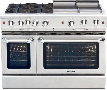 "Capital CGSR484BGN 48"" Culinarian Series Gas Freestanding"