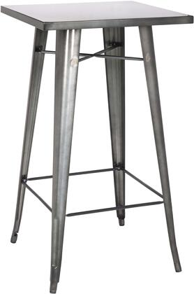 "Chintaly 8421-PUB 42"" Galvanized Steel Indoor and Outdoor Pub Table"