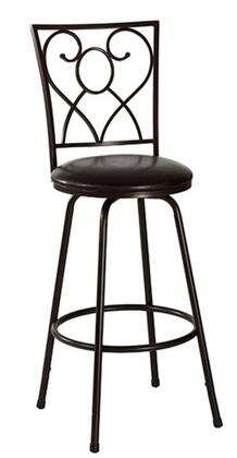 Hillsdale Furniture 5253830S Bellesol Series Residential Bycast Leather Upholstered Bar Stool