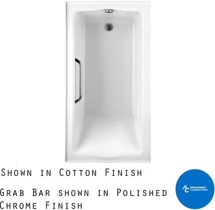 Toto ABY782P12YCPX Clayton Series Tile-In Soaker Bathtub with Acrylic Construction, Slip-Resistant Surface, and Polished Chrome Grab Bar, Sedona Beige Finish