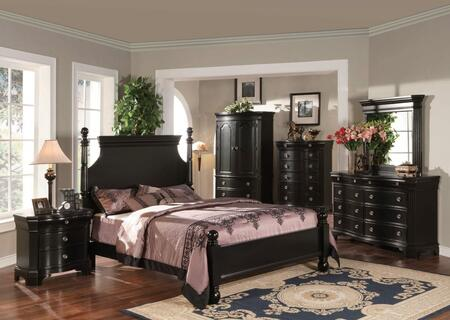 Yuan Tai BA2100QTVSET Bayle Series 5 Piece Bedroom Set