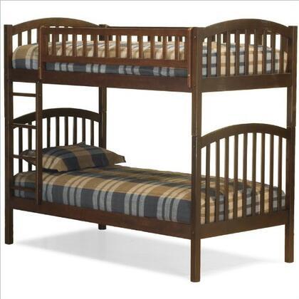 Atlantic Furniture YBBRICHMONDTWINTWINAW Richmond Series  Twin Size Bunk Bed