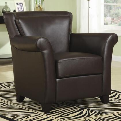 Coaster 900302 Club Faux Leather Wood Frame Accent Chair