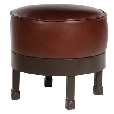 Stone County Ironworks 904-189-FAUX Cedarvale Ottoman With Faux Leather
