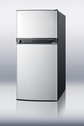 Summit FF874SS Freestanding Counter Depth Top Freezer Refrigerator with 8.1 cu. ft. Total Capacity 2 Glass Shelves