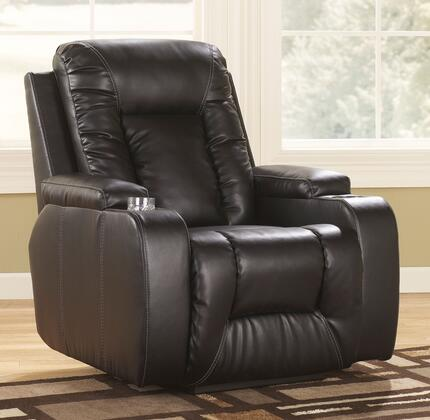 Milo Italia Aaliyah MI-1767TMP Zero Wall Recliner with Supportive Back Cushion, Padded Arms with Cup Holders and Side Handle to Activate Reclining Mechanism in Eclipse Color