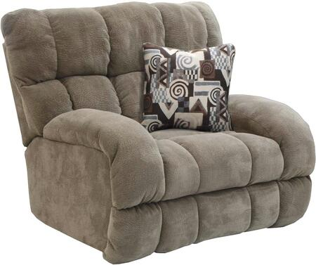 """Catnapper Siesta Collection 1760-7- 55"""" Power Lay Flat Recliner with Lay Flat Reclining, Polyester Fabric Upholstery and Track Arms in"""