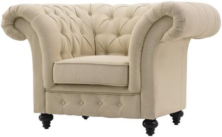 Glory Furniture G932C Fabric Armchair with Wood Frame in Beige