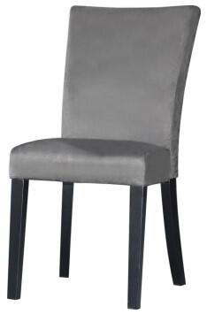 Chintaly MONICAPRSSCGRY Monica Series Modern Fabric Wood Frame Dining Room Chair