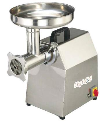 Skyfood SMG Medium Duty Compact Meat Grinder with Horsepower Motor, Two Plates, One Knife and One Funnel in Stainless Steel