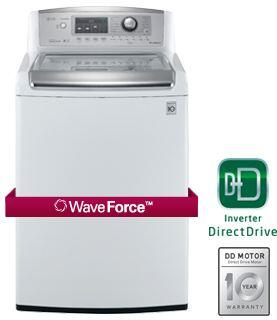 """LG WT5170HW 27"""" Wave Series Top Load Washer 