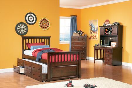 Atlantic Furniture MAT3TAWFL  Full Size Trundle Bed