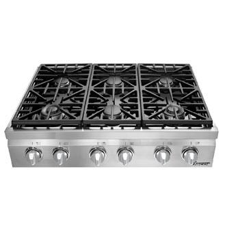 "Dacor DRT366SLP 36"" Distinctive Series Gas Sealed Burner Style Cooktop, in Stainless Steel"
