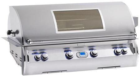 "FireMagic E1060I4A1XW Echelon 51.25"" Built-In Grill with All Infrared Burners, Quantum Backburner, Digital Thermometer, and Magic View Window, Up to 115000 BTUs"