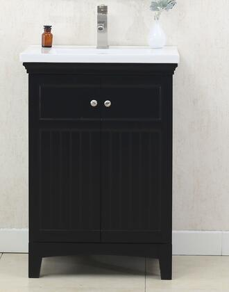 """Legion Furniture WLF7016 24"""" Sink Vanity with Porcelain Top, 2 Soft Closing Doors and Pre-Drilled Faucet Hole in"""