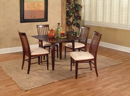 """Atlantic Furniture MONTREAL4260BTDT Montreal Collection 42x60 Butterfly Top Dining Table (Includes 18"""" Leaf):"""