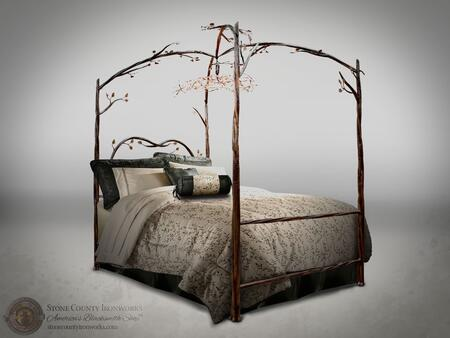 Stone County Ironworks 914349  King Size Canopy Bed