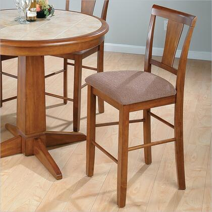 Jofran 477BS297KD Transitional Fabric Wood Frame Dining Room Chair