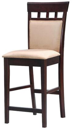 """Coaster Mix & Match 20.5"""" Counter Height Bar Stool with High Panel Back, Microfiber Seat, Tropical Hardwood and Okume Veneer Materials in"""