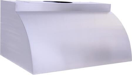 "Prestige Pro Line PLCXXX240 X"" Canopy Pro Wall-Mount Stainless Steel Convex Hood"
