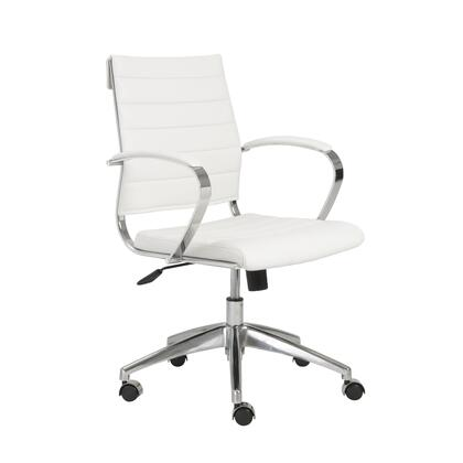 """Euro Style 00477WHT 22.75"""" Modern Office Chair"""