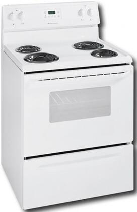 Frigidaire FEF326FS  Electric Freestanding Range with Coil Element Cooktop, 4.1 cu. ft. Primary Oven Capacity, Storage in White