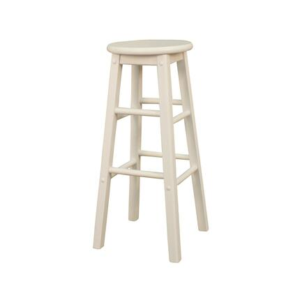 American Heritage 124803WH Classic Series Residential Not Upholstered Bar Stool