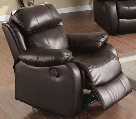 Yuan Tai WE9918CBR Weston Series Leather Wood Frame  Recliners