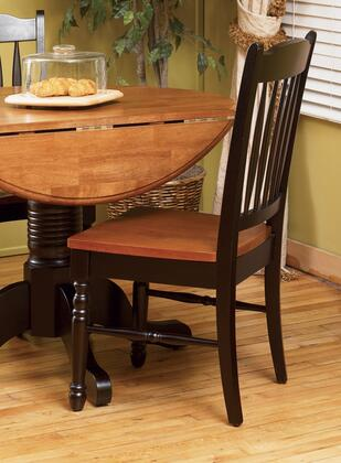 AAmerica 267K British Isles Slatback Side Chair with Solid Hardwood Construction, Ergonomically Designed for Comfort and Wood on Wood Glides in
