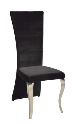 Chintaly TERESA-SC-RCT TERESA DINING Transitional Rectangular High Back Side Chair
