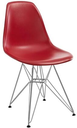 Modway EEI179RED Paris Series Modern Not Upholstered Metal Frame Dining Room Chair