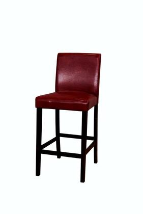 PRSES332K LOW BACK RED PARSON STOOL