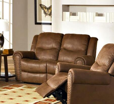Coaster 600692 Morey Series Microfiber Reclining with Wood Frame Loveseat