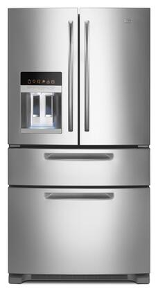 Maytag MFX2570AEM Ice2O Series  French Door Refrigerator with 25 cu. ft. Total Capacity 4 Glass Shelves