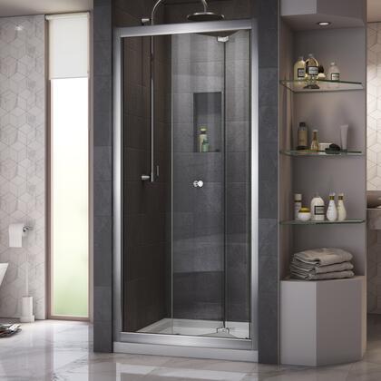 DreamLine Butterfly Shower Door Chrome Open Base White