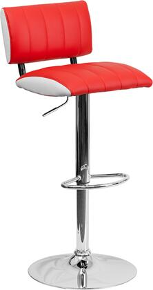Flash Furniture CH122150REDGG Residential Vinyl Upholstered Bar Stool