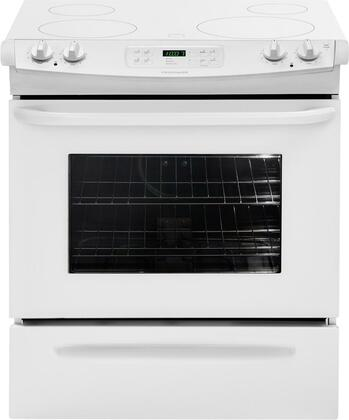 """Frigidaire FFES3025LW 30"""" Slide-in Electric Range with Smoothtop Cooktop Storage 4.2 cu. ft. Primary Oven Capacity 