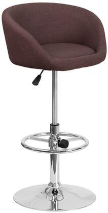 Flash Furniture CHTC31066LBRNFABGG Residential Fabric Upholstered Bar Stool