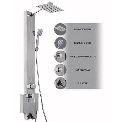 Picture of AK-331537 48 Stainless Steel Shower Panel Tower Rainfall