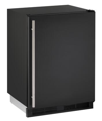 "U-Line U-1224R-00A 24"" 1000 Series Star K, Energy Star Compact Refrigerator with 5.2 cu. ft. Capacity, Freestanding or Built In, LED Lighting, Tempered Glass Shelves and Reversible Hinges:"