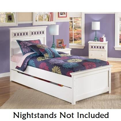 Signature Design by Ashley B131-BEDTRUNDLE Zayley Collection X Size Panel Bed with Trundle: White