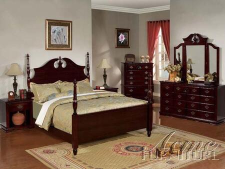 Acme Furniture 12XXXX Savannah Poster Bed in Dark Cherry