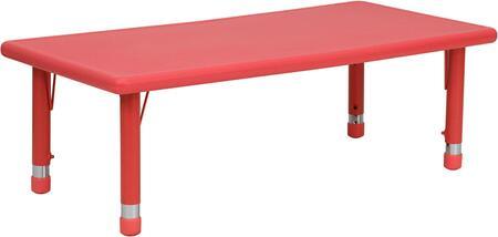 Flash Furniture YUYCX0012RECTTBLREDGG